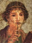 So-called Sappho from Pompeii (Naples, MANN 9084) From Wikicommons